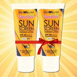Nutriglow-Sunscreen Whitening  Fairness Lotion For All Skin Types (No of units 2)