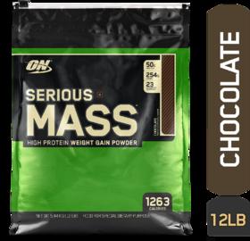 Optimum Nutrition (ON) Serious Mass - 12 lbs (Chocolate)