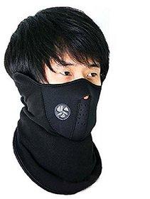 Neoprene Half Face Black Bike Riding face mask pack of 1 (size : free)