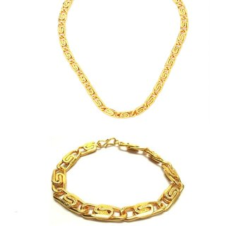 Yo Yo Honey Singh Casual Alloy Bracelet and Chain Combo for Men and Boys by GoldNera