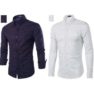 Pack Of 2 Black Bee Multicolor Slim Fit Shirts For Men