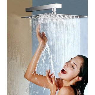 SSS - 6x6 Ultra Slim Rain shower Head with 12inch square Arm