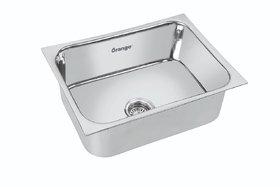 Orange Kitchen Sink Size 24 X 18 X 9 inches