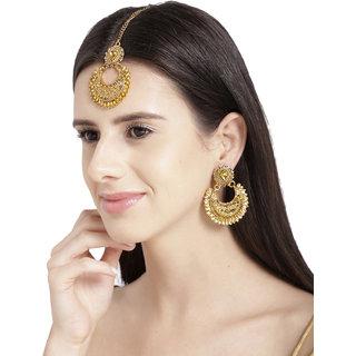 Zaveri Pearls Gold Plated Gold Zinc Chandbali for Women
