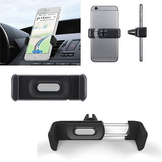 KSJ Air Vent Universal Car Mount Holder for All Mobile Phones 4 Inch to 5.5 Inch By KSJ - Black