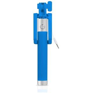KSJ Blue AUX Cable Selfie Stick For All Smartphones Pack of 1 (1 Month Manufacturer Warranty)