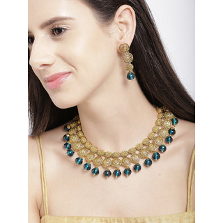 Zaveri Pearls Fine Detailed Ethnic Necklace Set - ZPFK6133