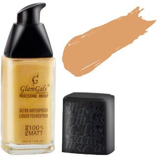 GlamGals Ultra Water Proof Liquid Foundation,Warm Nude,30 ml