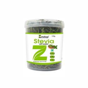 Zindagi Stevia Dry Leaves-Natural Fat Free Sweetener-Sugarfree (100gm)
