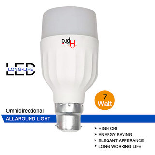 HomePro 7W Pack of 4 LED Bulbs with 1 year warranty