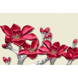 Style UR Home -3d Red Flowers  Wall Poster - 18  x  24