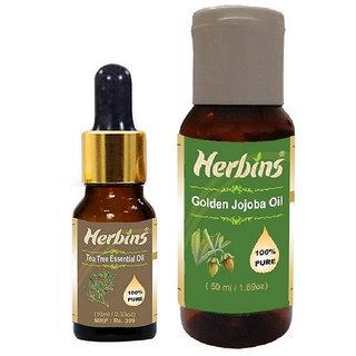 Herbins Essential Oil Combo(Tea Tree  Jojoba)
