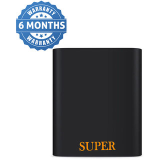 Orenics Light Weight Easy To Carry Ultra Portable Battery Charger 10400 MAh Power Bank (Black)