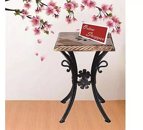 Wooden  Wrought Iron Stool/Chair