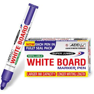 Add Gel White Board Marker Blue Set of 20 Markers Pens