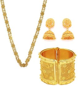 Combo Of Ginni Chain, Golden Jhumki And Kada