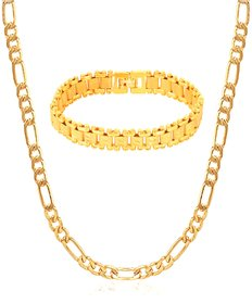 GoldNera Gold Plated Designer Combo Of Chain And Bracelet For Women