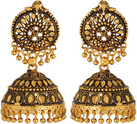 GoldNera Gold Plated Gold Alloy Jhumkis for Women