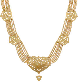 GoldNera Gold Plated Gold Alloy Necklace Set For Women