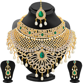 Meia Gold Alloy Gold Plated Necklace Sets For Women
