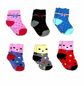 AA Baby Boy's and Girl's Soft Touch Rich Socks - Set of 6 Pair