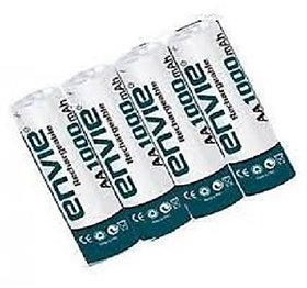 4PC ENVIE 1000 MAH RECHARGEABLE AA BATTERIES FOR WALL CLOCKS TOYS AND GADGETS