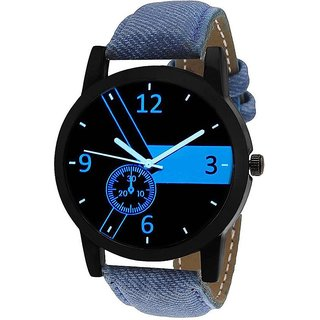 Radius by Smartshop16 Round Dial Blue Denim Strap Casual Analog Watch for Men