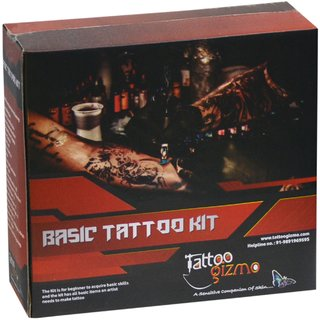Basic Permanent body tattoo making machine kit for beginners  Students,