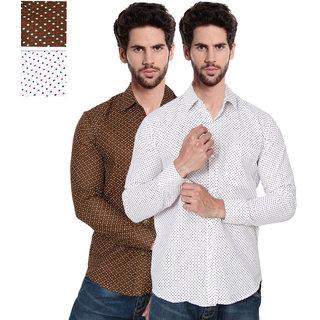 Balino London  Printed Poly-Cotton Shirts pack of 2