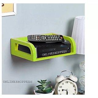 Onlineshoppee MDF Beautiful Design Set top box Wall Shelf Colour - Green