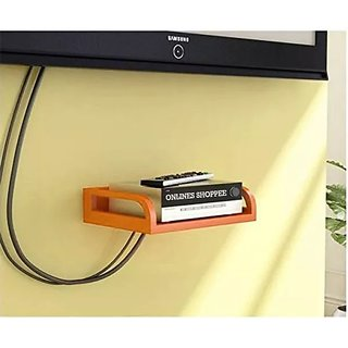 Onlineshoppee MDF Beautiful Design Set top box Wall Shelf Colour - Orange