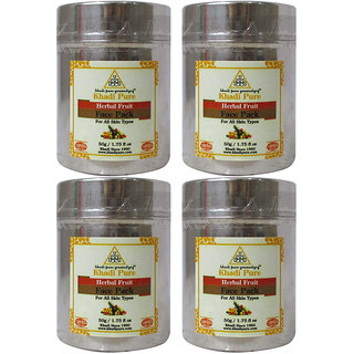 Khadi Pure Herbal Fruit Face Pack - 50g (Set of 4)