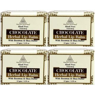 Khadi Pure Herbal Chocolate Lip Balm - 10g (Set of 4)
