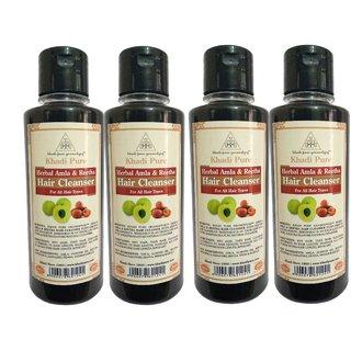 Khadi Pure Herbal Amla  Reetha Shampoo - 210ml (Set of 4)