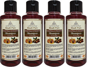 Khadi Pure Herbal Honey  Almond Oil Shampoo - 210ml (Set of 4)