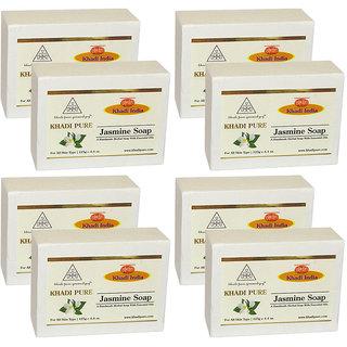 Khadi Pure Herbal Jasmine Soap - 125g (Set of 8)