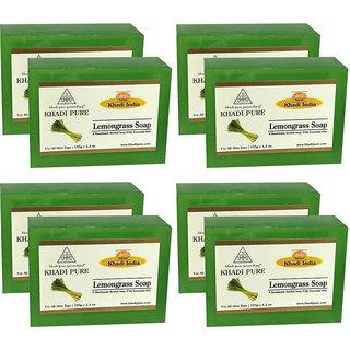 Khadi Pure Herbal Lemongrass Soap - 125g (Set of 8)
