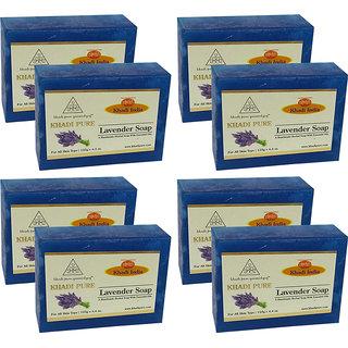 Khadi Pure Herbal Lavender Soap - 125g (Set of 8)