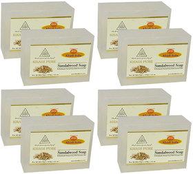 Khadi Pure Herbal Sandalwood Soap - 125g (Set of 8)