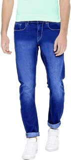 Spain Style Men's Slim Fit Blue Jeans