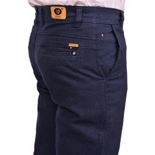 Just Trousers Reguler Fit Solid Plain Blue Color Trouser