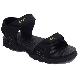 Rod Takes Black Synthetic TPR Velcro Casual Floaters For Men