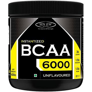 Sinew Nutrition Instantized 2:1:1, 400gm/0.88lb (Unflavoured) BCAA (400 g, Unflavored)