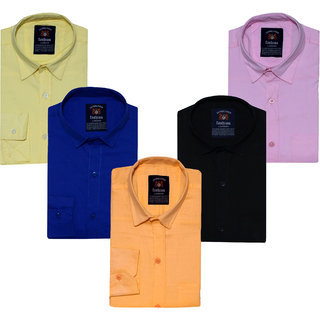 cdee3d77b1a Buy Black Bee Men s Slim Fit Casual Shirt For Men Combo Of 5 Online - Get  69% Off