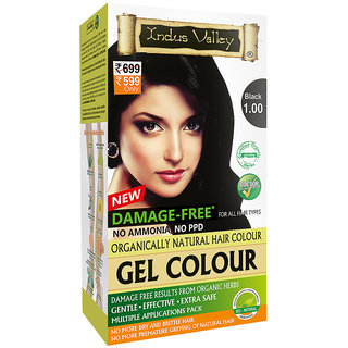 Indus Valley Permanent Herbal Hair Color (Black)