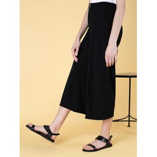 Estatos Buckle Closure Silver, Black, Golden Coloured Flat Sandal