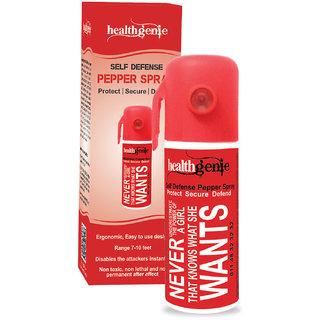 Healthgenie Pepper Spray, upto 10 feet range 35 gms of dispensable pepper spray