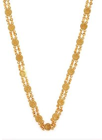 Gold Plated Ginni Designed Chain For Women With With Free Gold Plated Earrings