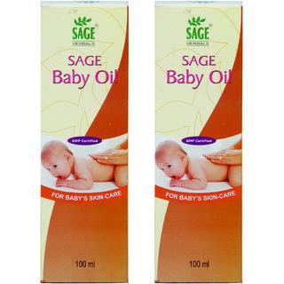 Sage Herbals Baby oil ( Pack of 2 ) 100 ML