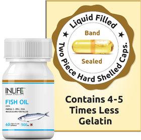 INLIFE Fish Oil (Omega 3) 500 mg 60 Capsules